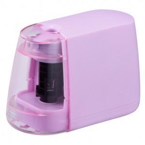 オーム電機 OHM 電動えんぴつ削り 乾電池式 ピンク JIM-E01-P 00-5156 akibaoo