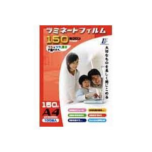ラミネートフィルム150ミクロン A4 100枚 LAM-FA4100T 00-5512|akibaoo