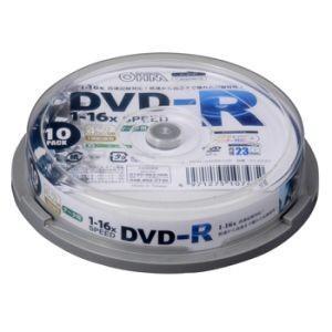 オーム電機 OHM DVDーR 16倍速対応 データ用 10枚 スピンドル入 01-0747 PC-M16XDRD10S|akibaoo