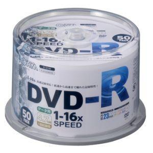 オーム電機 OHM DVDーR 16倍速対応 データ用 50枚 スピンドル入リ 01-0748 PC-M16XDRD50S|akibaoo