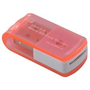 USBカードリーダーライター 8in1マイクロSD専用 SDHC対応 PC-SCRW1-P