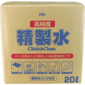 古河薬品工業 KYK 高純度精製水 クリーン&クリーン 20L 05-200 akibaoo