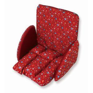 サギサカ 車椅子 ふかふかクッション レッド花柄 フリーサイズ 76002  車イス カイテキプラス P+US akibaoo