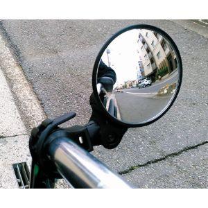 サギサカ 車椅子 簡単取付ミラー ブラック 角度自在 76370 車イス シルバーカー akibaoo
