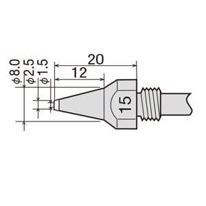 替ノズル φ1.5 TP-100N-15