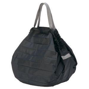 マーナ MARNA Shupatto コンパクトバッグ M・BK ブラック S411E 折り畳みエコバッグ|akibaoo