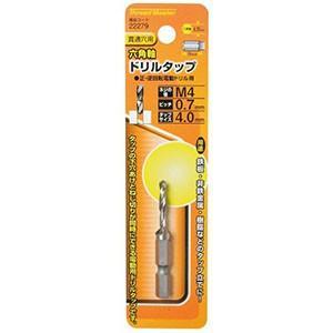 Thread Master(スレッドマスター) 貫通穴用 六角軸ドリルタップ M4 22279|akibaoo