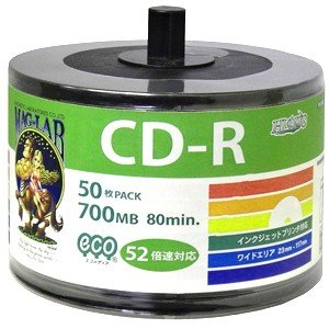 HDCR80GP50SB2 CD-R CDR 700MB データ用 700MB 50枚|akibaoo