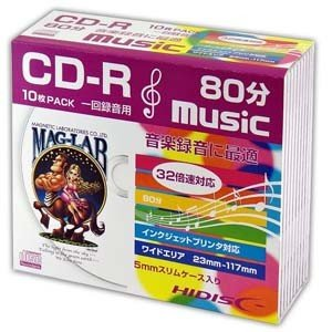 HDCR80GMP10SC CD-R CDR 700MB 10枚 音楽用|akibaoo