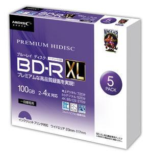 ハイディスク HDVBR100YP5SC BD-R XL 100GB 5枚 2-4倍速 ブルーレイディスク 磁気研究所 akibaoo