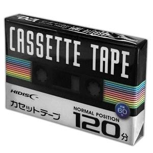 音楽用カセットテープ ノーマルポジション 120分 1巻 HDAT120N1P akibaoo