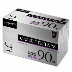 カセット テープ ノーマルポジション 90分 4巻 HDAT90N4P akibaoo
