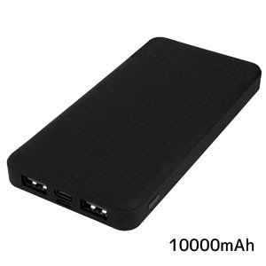 モバイルバッテリー10000mAh HD-MBC10000BK 入力:最大5V2.1A 出力:最大5V2.4A|akibaoo