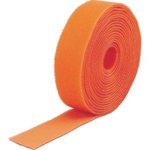 トラスコ中山 TRUSCO マジックバンド結束テープ 両面 幅40mm×長さ5m オレンジ MKT-...
