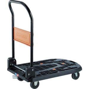 トラスコ 樹脂台車カルティオ折畳780×490黒樹脂ストッパー付MPK-720-BK-JS メーカー直送 代引不可 本州のみ配送 akibaoo