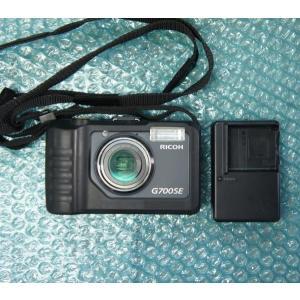 [中古] 超タフ!! バッテリー/乾電池 両対応!! 防水/防塵/耐衝撃デジタルカメラ RICOH G700SE バッテリチャージャー付属 akibapalette