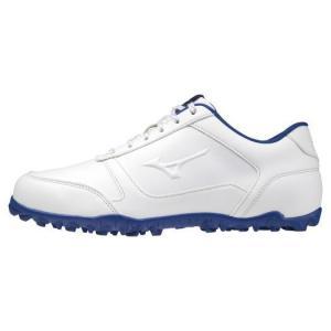 ミズノ ワイドスタイルライトスパイクレス(ゴルフ) メンズ ホワイト×ブルー Mizuno 51GQ2085 22|akichan-do