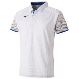 【在庫処分】【送料無料】ミズノ ゲームシャツ(ラケットスポーツ) ホワイト Mizuno 62JA9006 01|akichan-do