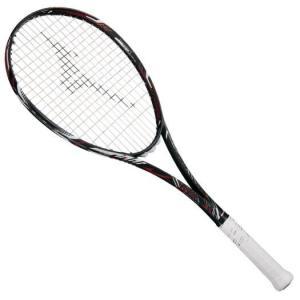 【在庫処分】【送料無料】ミズノ ディオス10-R(ソフトテニス)【未張り】 ハイブリッドブラック×フューチャーレッド Mizuno 63JTN863 62|akichan-do