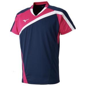 【在庫処分】【送料無料】ミズノ ゲームシャツ(ラケットスポーツ) ドレスネイビー Mizuno 72MA8005 14 akichan-do