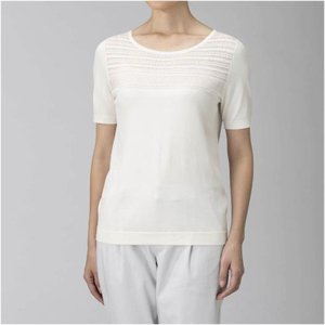 【送料無料】ミズノ ハイゲージニットTシャツ[レディース] ホワイト Mizuno B2JA9313 01|akichan-do
