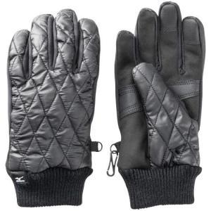 【在庫処分】【送料290円】ミズノ ブレスサーモ中綿手袋 メンズ ブラック Mizuno C2JY9637 09|akichan-do