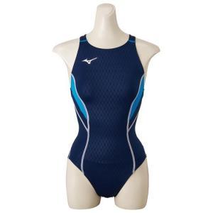 【在庫処分】【送料無料】ミズノ ローカット(オープン)[レディース] ネイビー×サックス Mizuno N2MA8240 82 水泳 競泳水着 女性用|akichan-do