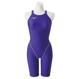 【送料無料】ミズノ 競泳用ハーフスーツ(レースオープンバック)[レディース] バイオレット Mizuno N2MG0222 69|akichan-do