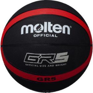 モルテン GR5 ゴムバスケットボール 5号球 ブラック×レッド molten BGR5KR akichan-do