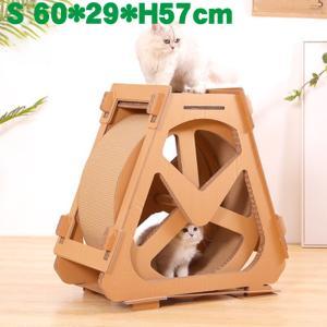 ●素材:ダンボール ●高密度のダンボールを使用し、耐久性に優れます。 ●猫様のハウスとしても、登り台...