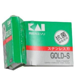貝印カミソリ T型ゴールドステンレス5本入|akindo