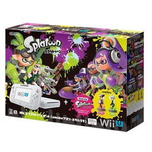 Wii U スプラトゥーン セット amiibo アオリ・ホタル付き WiiU 本体 WUP-S-WAHT ※外箱訳あり|akindoya