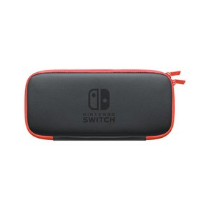 新品 在庫あり/Nintendo Switch ニンテンドースイッチ スウィッチ キャリングケース ネオンレッド 画面保護シート付き 限定色|akindoya