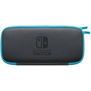 新品 在庫あり/Nintendo Switch ニンテンドースイッチ スウィッチ キャリングケース ネオンブルー 画面保護シート付き 限定色|akindoya