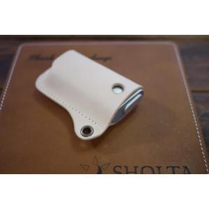 グロー専用ケース グローケース glo ハンドメイド レザーケース フィットケース 本革 ヌメ革 使用 ナチュラル ベージュ|akindoya