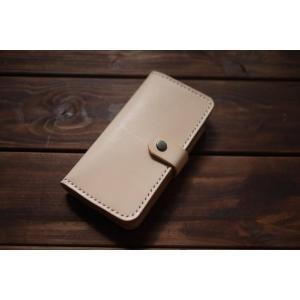 ハンドメイド レザー iphone ケース iphone6 iphone6S iphone7 対応 ヌメ革 牛革 革 レザーケース ナチュラル スマホケース スマホカバー|akindoya