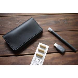 プルームテック 専用ケース Ploom TECH PloomTECH  レザーケース 黒 ブラック ヌメ革  本革 ジップ式 ファスナー式 チャック式  本体 プレゼント 送料無料|akindoya