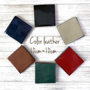革 はぎれ 本革 生地  商品説明・10cm×10cm正方形のカラーレザー10枚セットです。 似た色...