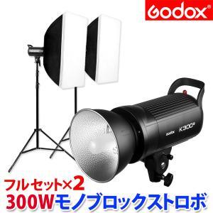 撮影機材 ストロボ 300W モノブロックストロボ フル2灯セット