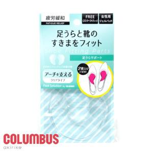 [メール便185円] COLUMBUS フットソリューション 足うらサポート 透明パッド cb-ashiurasupport|akiriko