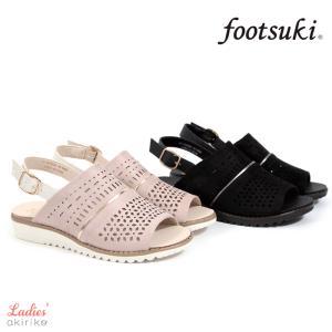 フットスキ footsuki レディース サンダル バックストラップ ウェッジ fs-16840 akiriko