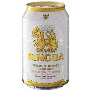 Thailand beer  タイ ビール  シンハー(SINGHA) 缶 330ml/24 ik  ケース重量:約8.2kg