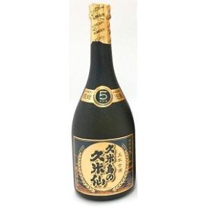 久米島の久米仙  ブラック5年  泡盛40度 720ml/6本.hn お届けまで14日ほどかかります akisa