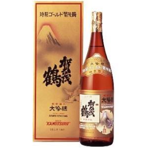賀茂鶴酒造 大吟醸 純金箔入 特製ゴールド賀茂鶴1800ml(化粧箱入)|akisa