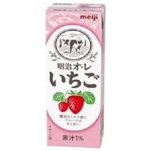 明治ブリック パック 明治オレ・いちご 200ml/24本|akisa