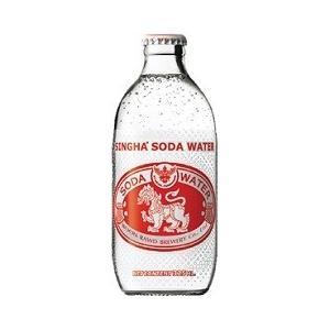 Thailand タイ/ シンハーソーダウォーター (SINGHA SODA WATER) 瓶 325ml/24本.ms|akisa