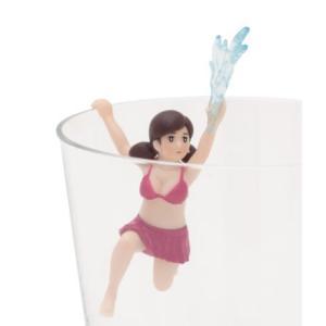 水ビシャーのフチ子 【 コップのフチ子 SUMMER 】 奇譚クラブ カプセル|akism