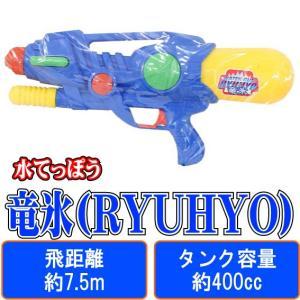 竜氷(RYUHYO) (緑) 【 水鉄砲 】 早川玩具 飛距離:約7.5m タンク容量:約400cc 空気圧縮式 (水てっぽう ウォーターガン)|akism