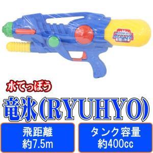 竜氷(RYUHYO) (赤) 【 水鉄砲 】 早川玩具 飛距離:約7.5m タンク容量:約400cc 空気圧縮式 (水てっぽう ウォーターガン)|akism