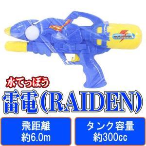 雷電(RAIDEN) 【 水鉄砲 】 早川玩具 飛距離:約6.0m タンク容量:約300cc 空気圧縮式 (水てっぽう ウォーターガン)|akism